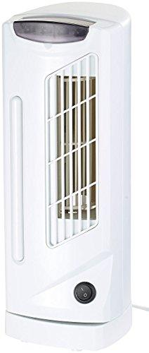 Sichler Haushaltsgeräte Tisch Turmventilator: Tisch-Säulenventilator VT-130.T mit 90°-Oszillation, 3 Stufen, 25 W (Ventilator ohne Rotorblätter)