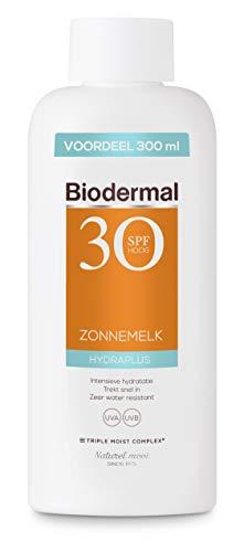 Biodermal Zonnebrand - Hydraplus - Zonnemelk SPF 30 - Directe bescherming en intensieve, langdurige hydratatie tot diep in de huid - Voordeelverpakking 300ml