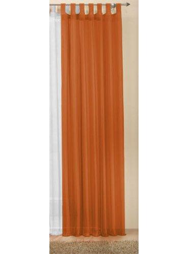 Transparente einfarbige Gardine aus Voile, viele attraktive Farbe, 245x140, Terrakotta, 61000