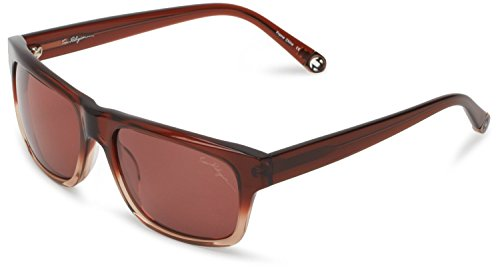 True Religion Sunglasses Jamie Rectangular Sunglasses, Brown & Light Brown, 55 Mm