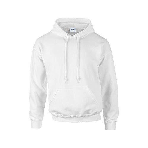 Gildan G185 Heavy Blend Adult Hooded Sweatshirt (Large, White)