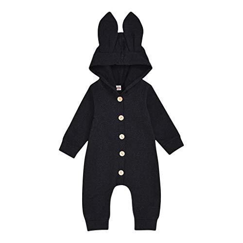 Sale!! GorNorriss Newborn Baby Girls Boys Rabbit Ear Solid Jumpsuit Soft Romper Clothes- Fall Winter Casual Playsuit for 0-24 Months Infant