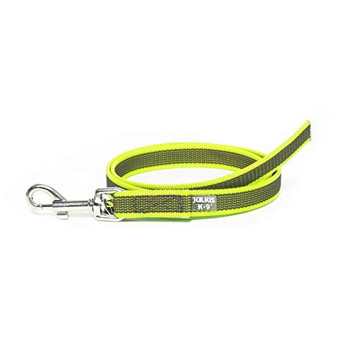 Julius-K9 216GM-NE-1 Color & Gray gumierte Leine, neon-grau20 mm x 1 m, ohne Schlaufe, max für 50 kg Hunde, 78 g