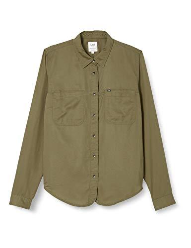 Lee 2 Pocket Work Shirt Camisa, Verde (Olive Green Nx), XS para Mujer