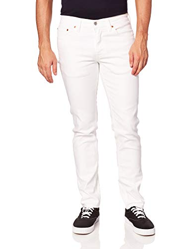 Levi's Men's 511 Slim Jeans, Castilleja White - Advanced Stretch, 34W x 30L