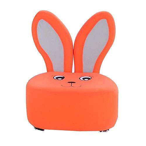 YumEIGE Kruk, kinderbank, dierkoel, konijnen, dierenvorm, kruk voor kinderen 1-7 jaar oud, met sofavoeten kan 100 kg dragen, kleine bank