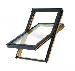 Dachfenster Balio Schwingfenster mit Eindeckrahmen 78x112 cm (VKR Konzern Rooflite Velux)