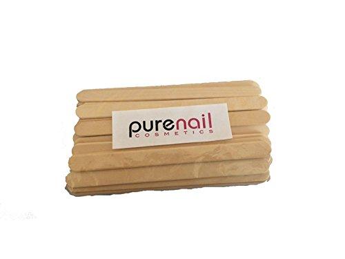 50 Spatules fine en bois pour épilation à la cire, visage et parties sensibles
