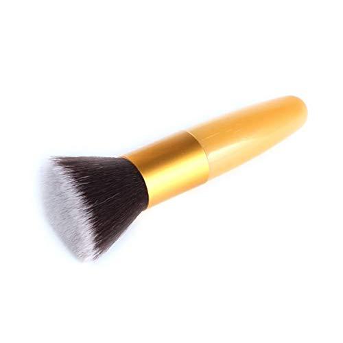 JYDQB Exquisite Werkzeuge 1Pcs professionelle Flache Make-up Pinsel Powder Foundation errötet weicher Pinsel Concealer Form Gesichts-Make Up Pinsel-Werkzeug. (Color : Red, Size : One Size)