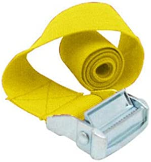 FidgetGear New Cargo Lash Luggage Nylon Bag Belt Pack Cam Tie Down Straps Metal Buckle Kit Yellow 2.5MM*1M