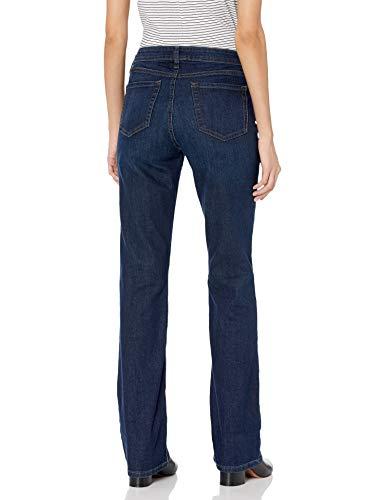Amazon Essentials Women's Mid-Rise Authentic Bootcut Jean, Dark Wash, 14 Regular