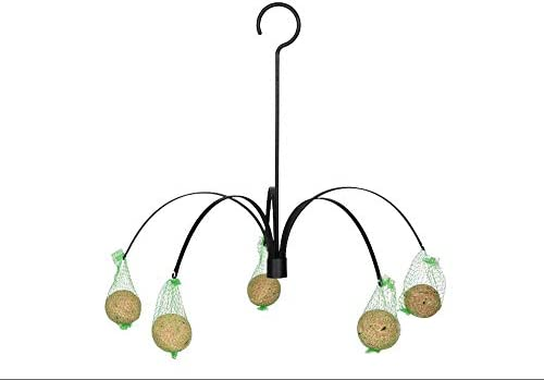 """new arrival SkyMall 15.9"""" Metal Outdoor Hanging 6 Holder Fat Ball online Feeder for discount Birds sale"""