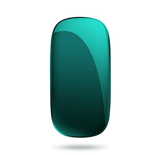 XIAOQIAO Wireless silent rechargeable bluetooth mouse, suitable for Apple macbookpro notebook mac computer air unlimited ipadpro tablet (Color : Green)
