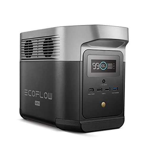 EF EcoFlow(エコフロー) ポータブル電源 DELTA mini 大容量 882Wh ポータブルバッテリー X-Boost機能付き 1.6時間フル充電 純正弦波 AC(1400W 瞬間最大2100W)/DC/USB出力 四つの充電方法 MPPT制御
