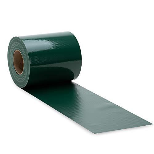NOOR Zaunblende PVC Blickdicht 630 g/m2 Grün I 0,19 x 35 m I Der ideale Sichtschutz für Ihren Doppelstabmattenzaun I Sichtschutzstreifen in vielen Farben I Witterungsbeständig