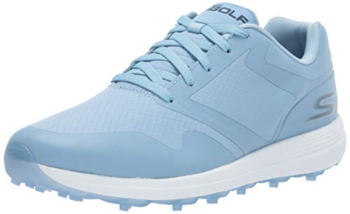 Skechers Women's Max Golf Shoe, Light Blue, 5.5 M US