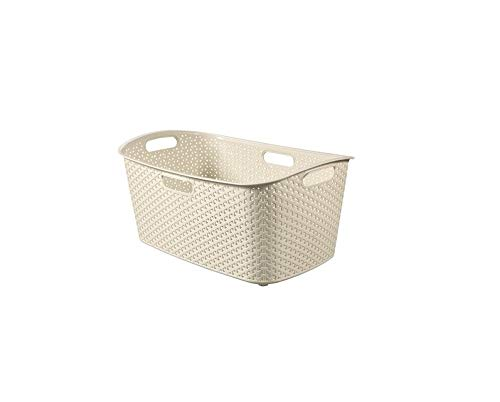 Curver wasmand My Style 49l in crème, plastic, 35 x 25 x 10 cm
