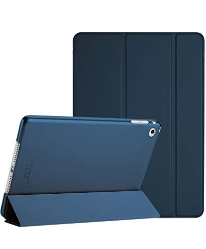 ProCase Funda Inteligente para iPad Air 2, Carcasa Folio Ligera y Delgada con Smart Cover / Reverso Translúcido Esmerilado / Soporte, para Apple iPad Air 2 (A1566 A1567) –Azul Marino