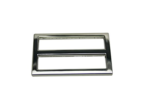 "Generic Metal Silvery Rectangle Buckle with Fixed Bar 1.5"" X 0.8"" Inside Dimensions Belt Shoes Strap Keeper Or Backpack Bag Accessories Pack of 10"