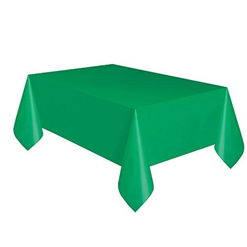 """Green Plastic Tablecloth, 108"""" x 54"""""""