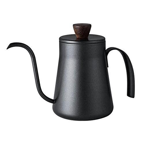 400 ml Mini acero inoxidable espesado Coffee Dropper Pot Kettle Home Kitchen Gadget (Color : With Lid)