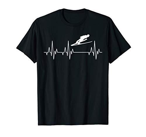 Skispringen Skispringer Skisprung Herzschlag Fun T-Shirt