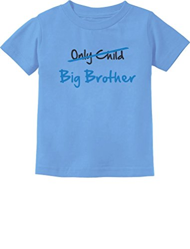 Only Child to Big Brother Shirt Big Brother Announcement Shirt Big Bro Toddler Infant Shirt 18M California Blue
