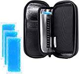 YOUSHARES Insulin Cooler Travel Case - Handy Medication Insulated Diabetic Carrying Cooling Bag for Insulin Pen, Glucose Meter and Diabetic Supplies with 3 Cooler Ice Pack (Black)