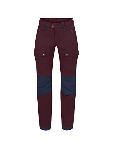 FJÄLLRÄVEN W Keb Touring Trousers Short Rot, Damen G-1000 Hose, Größe 38 - Farbe Dark Garnet - Night Sky