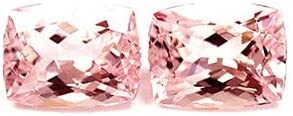 GemsNY 4.70 cttw. Natural Pair Fashionable low-pricing Cushion Matched Morganite