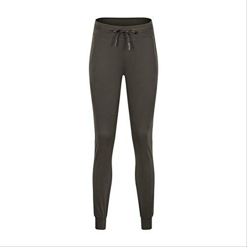 BYOGAZT Super Bequeme, atmungsaktive, lockere Passform für Frauen Schnelltrocknende Jogginghose mit hoher Taille, dünner, dünner Balken, Sport-Fitnesshose XS Green