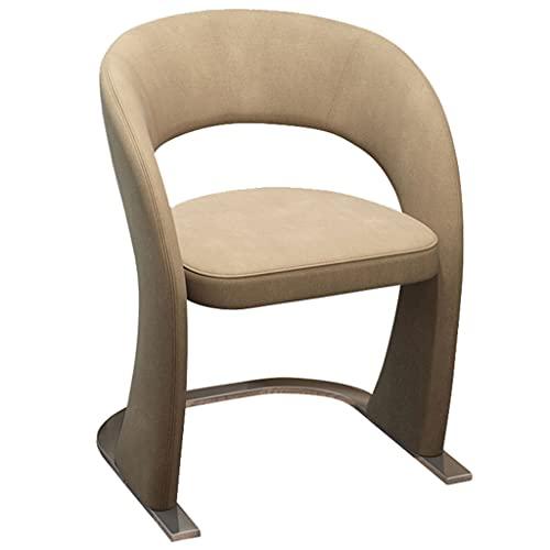 Silla de Ordenador de Ocio, Silla de Oficina Simple, Silla de Escritorio cómoda y sedentaria Silla de computadora Creativa (Color : Khaki)