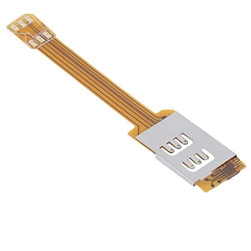 Lorenlli Adaptador de Tarjeta SIM Doble Doble del teléfono móvil Duradero de Color Amarillo Use Dos Tarjetas SIM para Samsung No Necesita Cortar su Tarjeta SIM