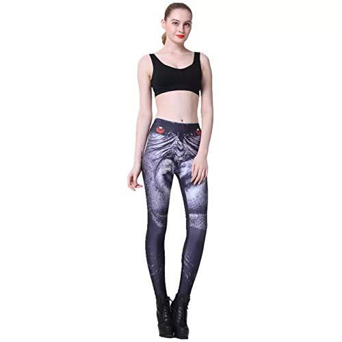 YJKGPZQLZ Leggings Polainas 3D Panther Mujeres Leggings de Cintura Alta Legging de Invierno Impreso Pantalones de Mujer Slim Fitness Leggings Ropa de Gimnasio