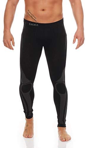 2 Stück Lange Herren-Unterhosen Grösse S/ M schwarz/grau Skiunterhose Funktionsunterwäsche innen angeraut weich wärmend funktions-unterwäsche thermo unterhemd langarm unterwäsche funktion angerautes