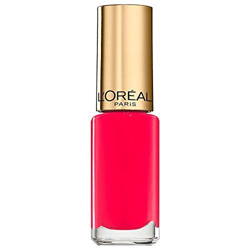 L'Oréal Paris Color Riche Le Vernis Summer Nagellack Pink / Glänzender Farblack in knalligem Pink mit integriertem Überlack / 826 Flamingo Pink / 1 x 5ml