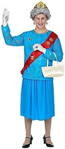 WidhomHommes 85864 Costume de Queen pour Adulte Bleu
