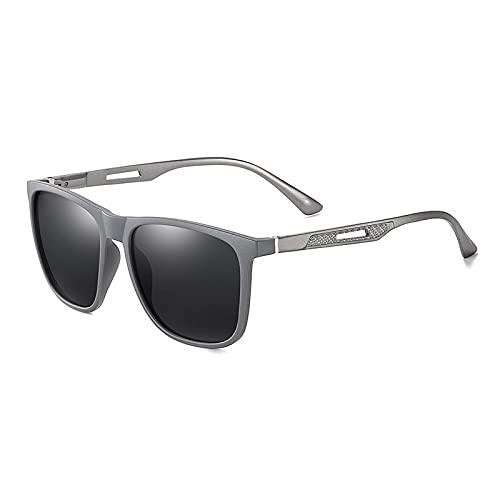 AMFG Gafas de sol de las gafas de sol de las gafas de sol de las gafas de sol de la moda de los hombres de las gafas de sol polarizadas (Color : B)
