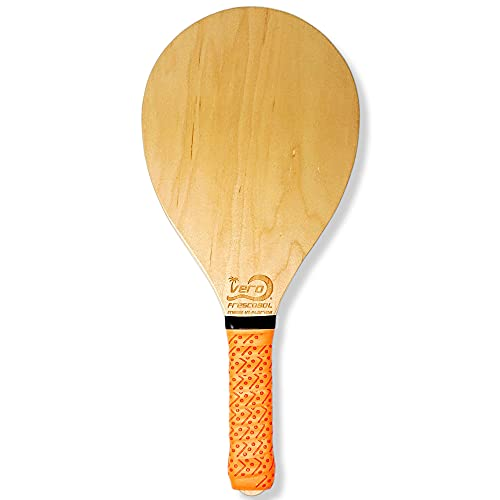 Vero Frescobol 1 American Birch Wood Beach Paddle. Made in USA. (Florida Orange)