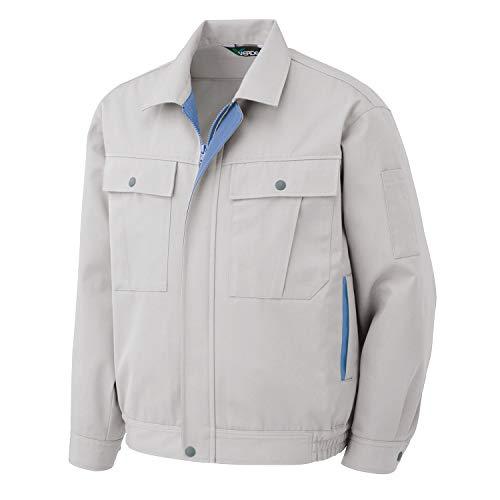 ミドリ安全 シンプル作業服 男女兼用 秋冬 長袖ブルゾン G561 シルバーグレー L