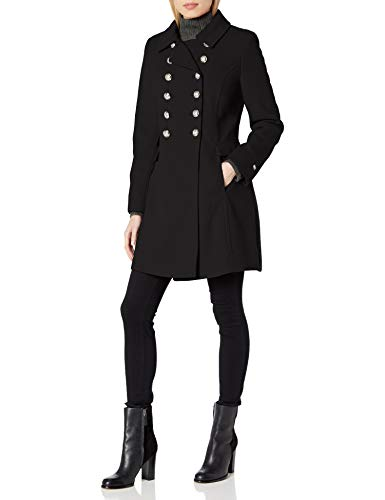 Tommy Hilfiger Women's Wool Blend Military Button Coat