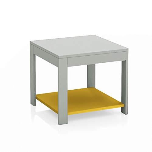 MIAOQINQIN Tavolino da Camera Moderno tavolino Minimalista con ripiano (20') Tavolini per Snack (Color : Gray)
