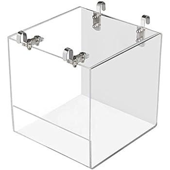 Yumira Baignoire à oiseaux en acrylique - Boîte de douche avec crochets - Cage à oiseaux - Maison de bain - Accessoires pour oiseaux perroquets et perruches
