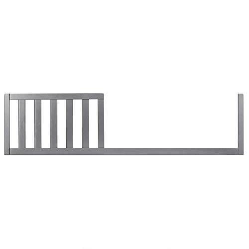 SweetPea Baby 4 in 1 Convertible Crib Toddler Rail I Easily Coverts to Toddler Bed, Storm Grey