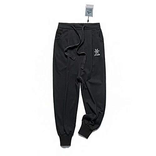 Luandge Pantalones de chándal elásticos Estampados elásticos de Talla Grande para Mujer para Deportes de Entrenamiento de Gimnasio, Pantalones de chándal Casuales con cordón Medium