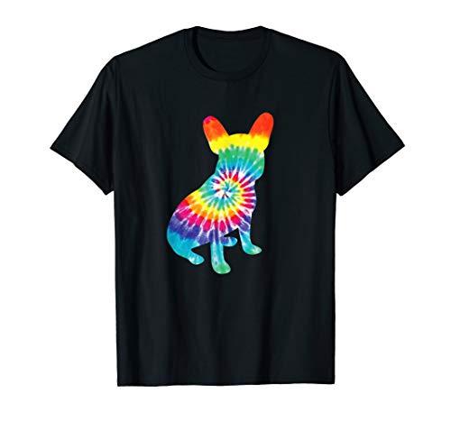 Tie Dye Dog Shirt Hippie French Bulldog Retro Puppy Gift