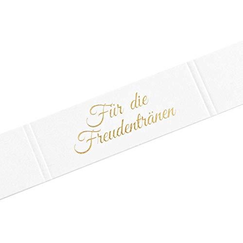 KATINGA Freudentränen Banderolen für die Hochzeit für Taschentücher (Gold geprägt) (100 Stück)