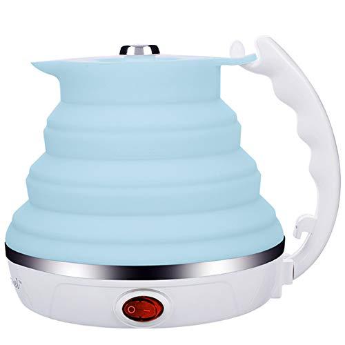 Tellgoy Pliable Bouilloire Électrique sans BPA 555ML Silicone Bouilloire Eau Portable Pliable Bouilloire À Thé, avec Automatique D'arrêt Et De Maintien Au Chaud