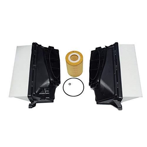 Creely Kit de Filtro de Aceite y Aire del Motor del Coche para Mercedes W164 W166 W211 W212 6420940000 6421800009