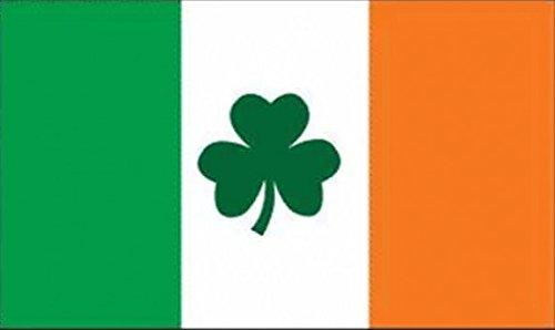 U24 Flagge Fahne Irland mit Shamrock Kleeblatt 90 x 150 cm